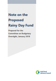 Note on the Proposed Rainy Day Fund, prepared for the Committee on Budgetary Oversight, January 2018